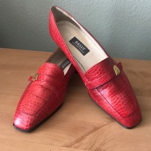 Bally Red Loafers